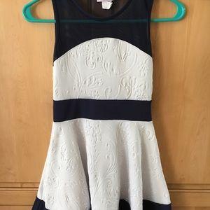 Other - NWOT Girls Summer dress 7/8 navy/white